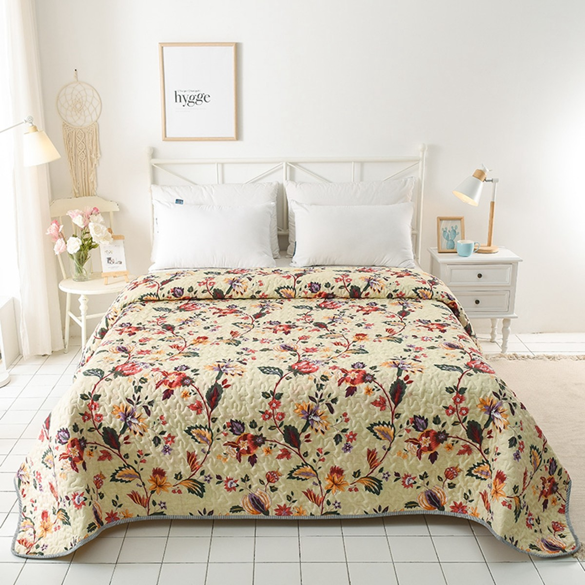 Floral Doona Duvet Single Queen Size Quilted Bedspreads Coverlet No Pillow Cases Ebay