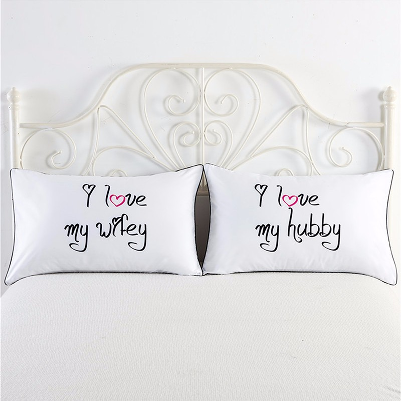 Love Couple Living Room Pillowcases Protector Pillow Case Cover