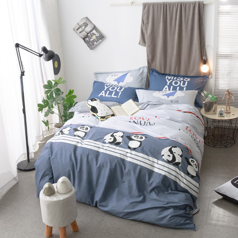 Panda Doona Quilt Duvet Covers Set Queen Double Size Animal Bed Covers Set  New