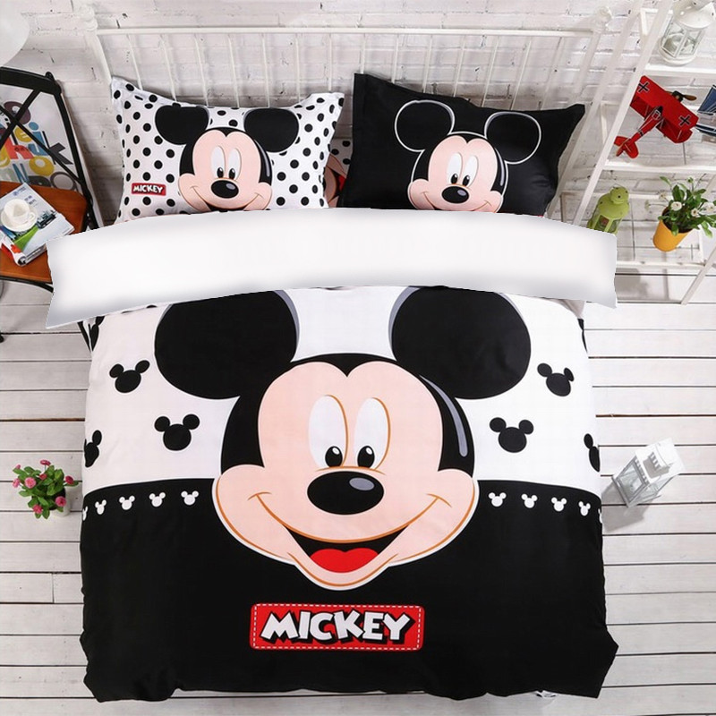 Mickey Mouse Duvet Cover Set Twin Full Queen King Size Bedding Set Pillow Case Ebay