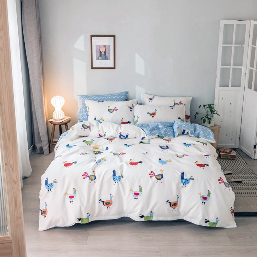 Doona Duvet Covers Fitted Sheets Single Double Queen King Size Bed 100/%Cotton