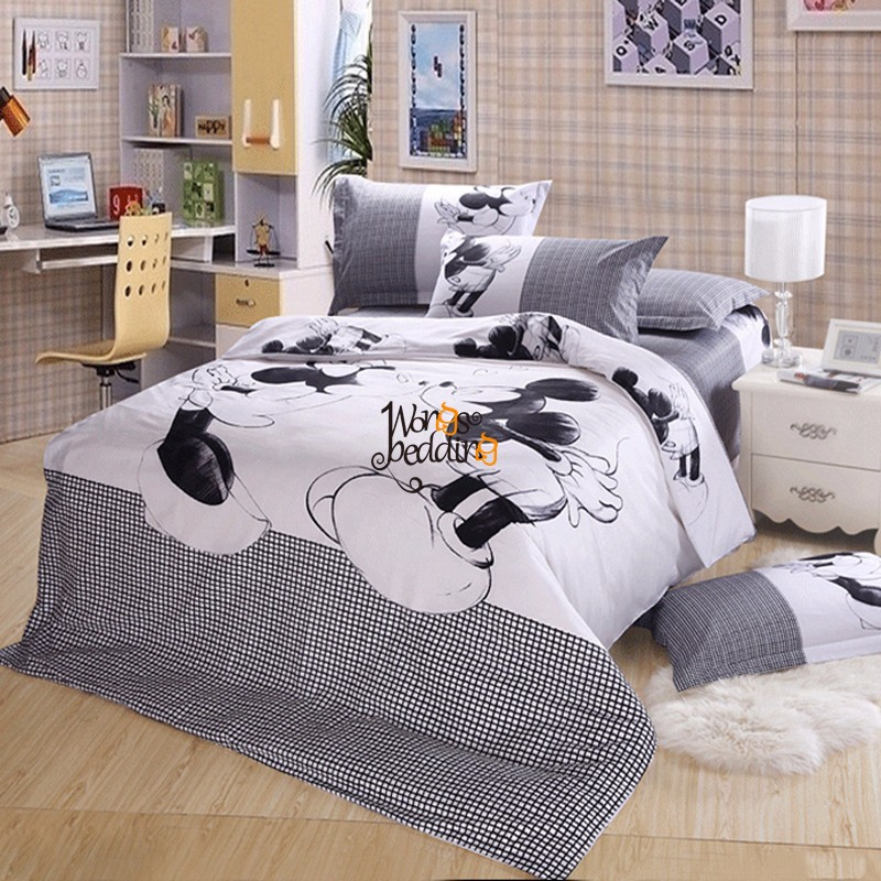 Mickey Mouse Duvet Cover Set Twin Full Queen King Size Bedding Set Pillowcase Ebay