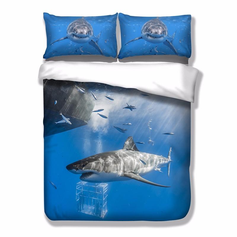Shark Doona Duvet Quilt Cover Set King Single Queen Size Animal ... : shark quilt cover - Adamdwight.com