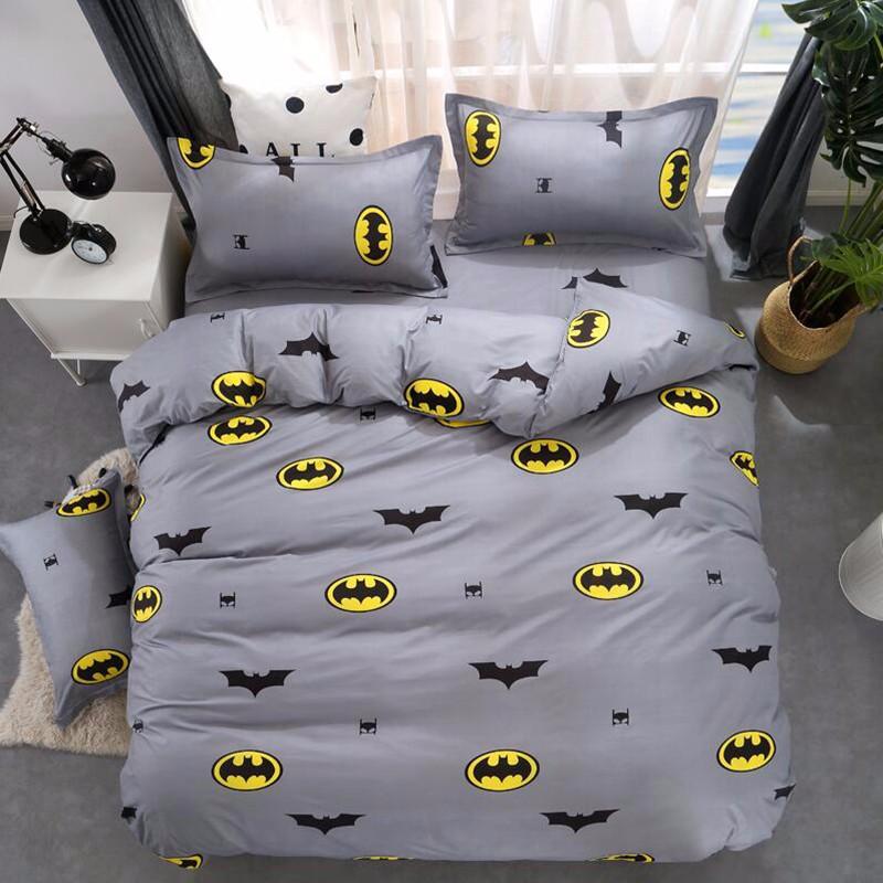 Batman 2 3pcs Gray Duvet Cover Set Twin, Batman Queen Bedding