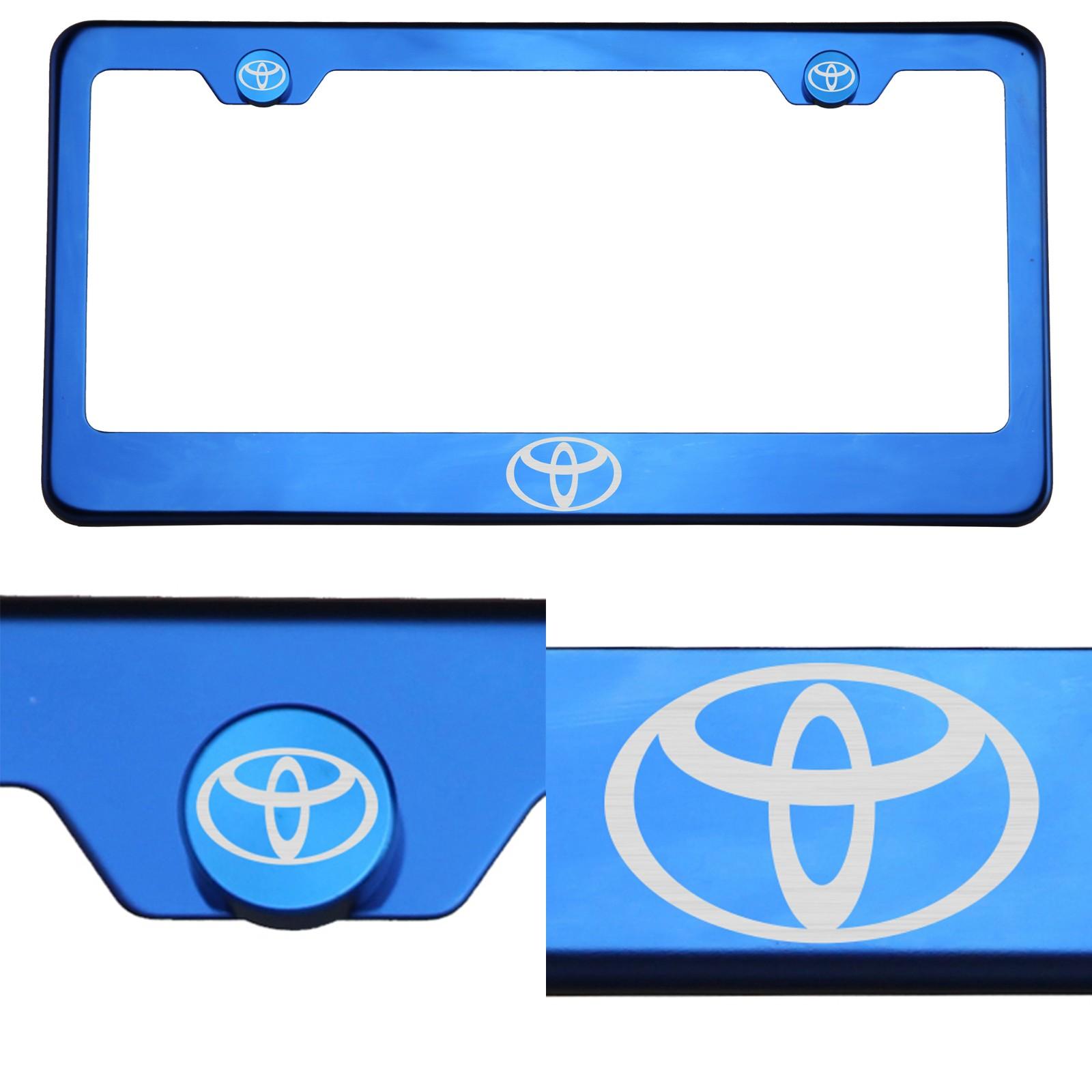 Mirror Polished Stainless Steel Laser Engraved License Plate Frame Holder Subaru