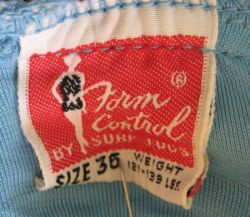 1940's Form Control by Surf Togs Label
