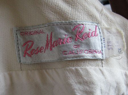 1950's Rose Marie Reid Label