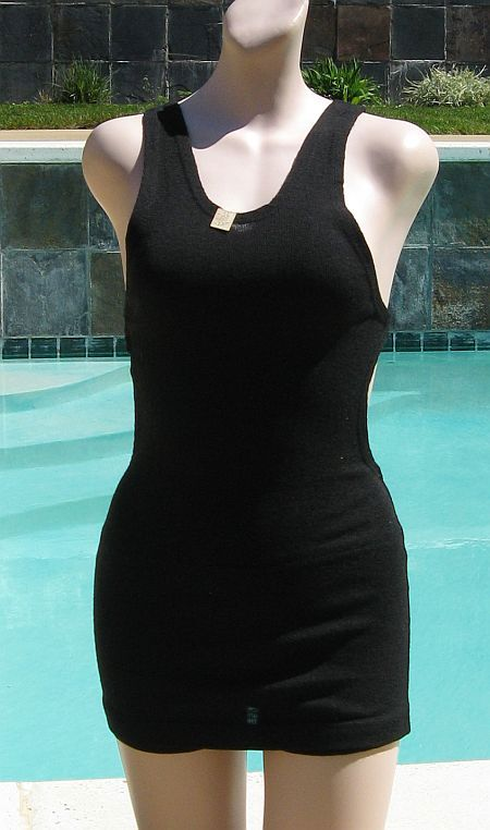 NEW Vintage 1930 Black Wool Shorline Fashions Swimsuit Bathing Suit