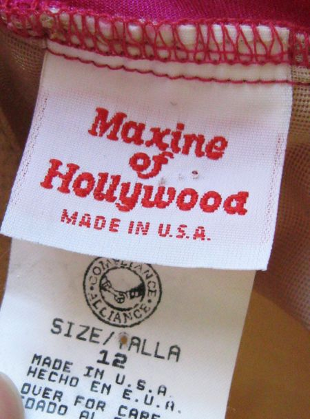 80's Maxine of Hollywood Label