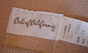 70's Cole of California Label