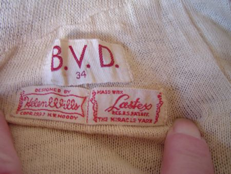 Late 30's BVD Label