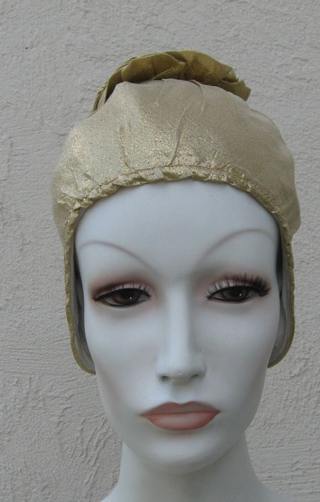 Fabulous Gold Lame Aqua Modes Swim Cap
