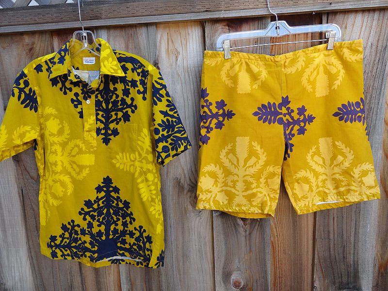 Vintage 60s JAMS Surfline Hawaii Cabana Set Shirt and Board Shorts