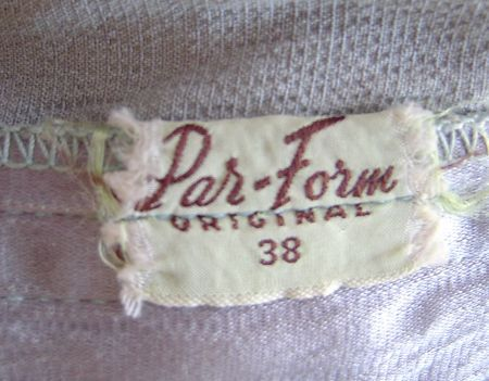 1940's Par Form Original Label