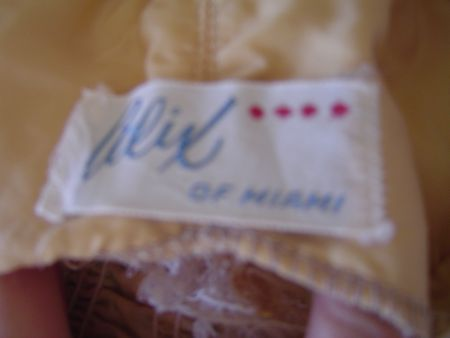early 1950's Alix of Miami Label