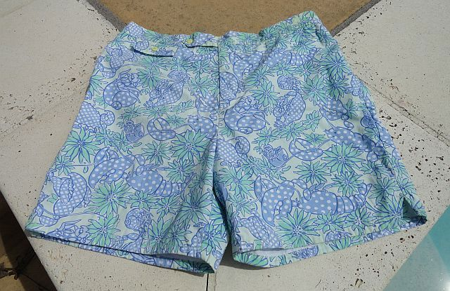 Lilly Pulitzer Blue Crab Crustacean Swim Trunks