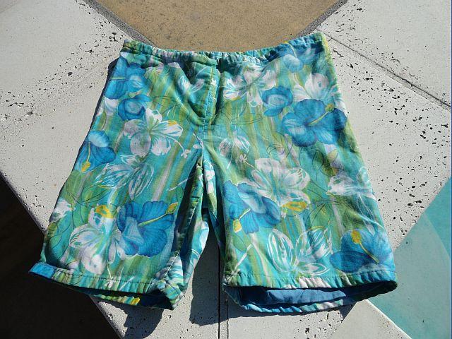 Early 70s Pennys Surf 'n Sun Hawaiian Floral Swim Trunks