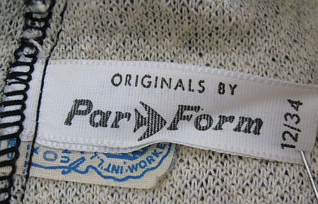 1960's Par Form Label