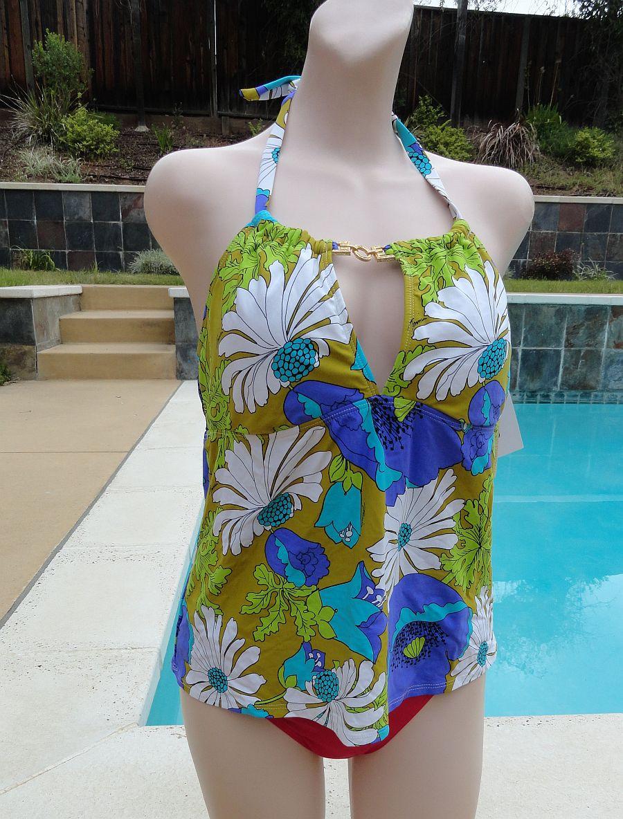New Trina Turk Halter Neck Swimsuit Top