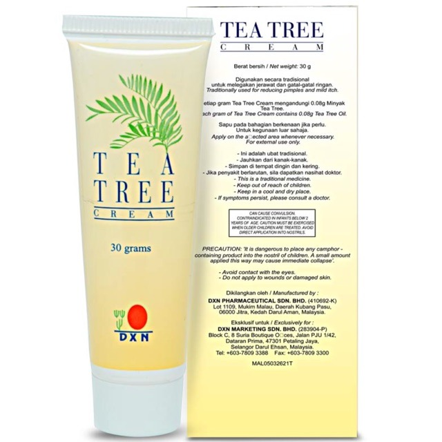 4 X Dxn Tea Tree Cream Skin Beauty Acne Treatment Cream Express