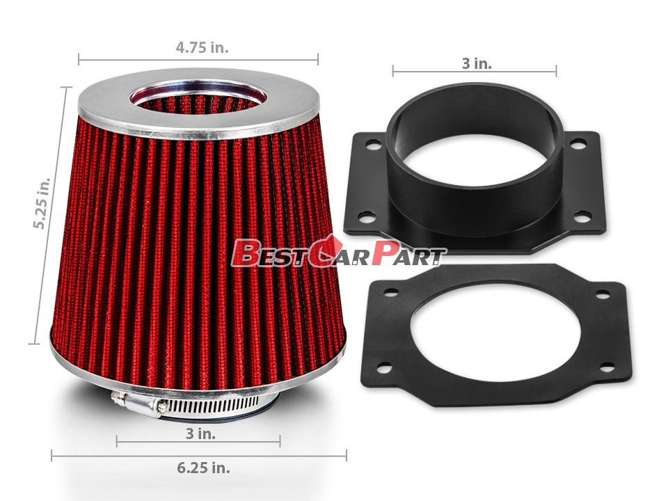 GREEN Air Intake Filter MAF Sensor Adapter For 90-96 Nissan 300ZX 3.0L V6