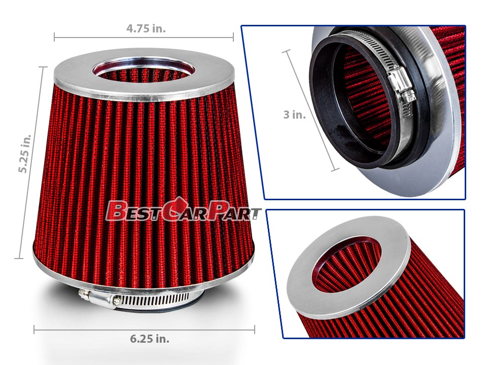 AIR INTAKE MAF Adapter Kit For BMW 84-91 318 325 M3 E30 RED Cone Dry Filter