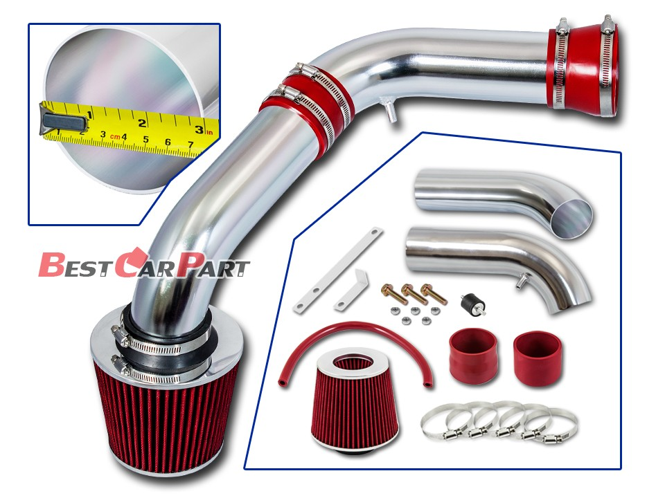 Filter BCP RED 2002 2003 2004 Dodge Ram 1500 Pickup 3.7 4.7 V6 Cold Air Intake