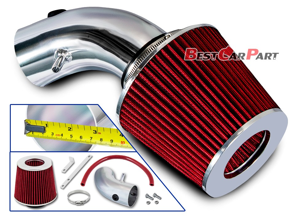 Filter BCP RED 07-10 Avenger Sebring 2.4L L4 Short Ram Racing Intake