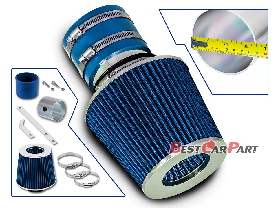 BCP BLUE 2000 2001 2002 Fits Sephia Sedona Spectra Optima 1.8L 2.5L Ram Intake