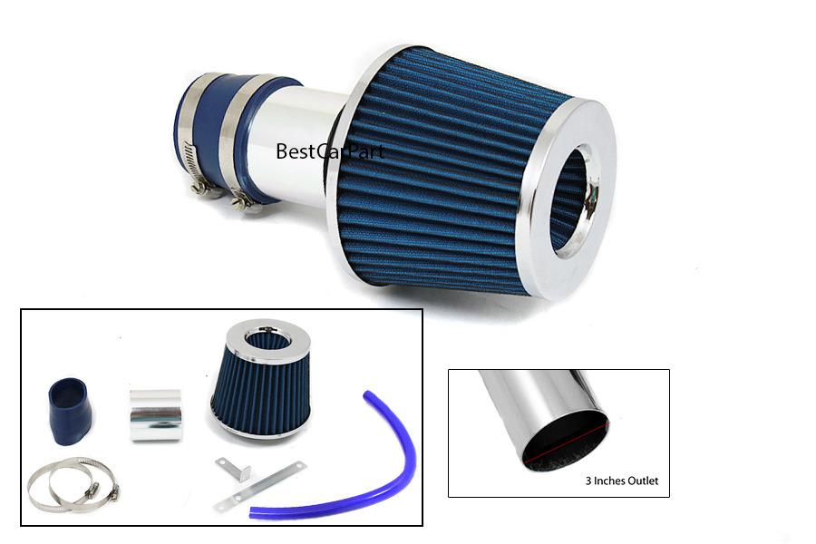 99 05 Blue Jetta Golf Bettle TT Short RAM Air Intake Induction Kit Filter