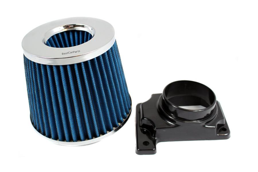 MAF Sensor Adapter For 94-03 Mitsubishi Galant 2.4L 3.0L RED Air Intake Filter