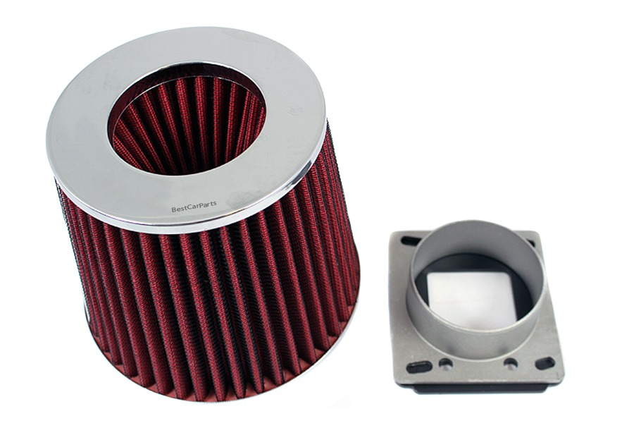 86-92 Mazda RX7 1.3 Rotary AIR INTAKE MAF Adapter RED FILTER