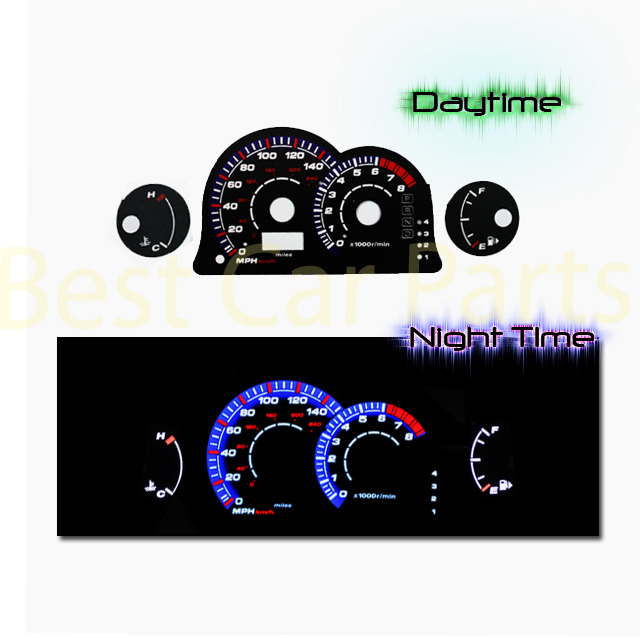 White Indiglo El Gauges Kit Glow BLUE Reverse for 86-92 Supra NA NT Non-Turbo