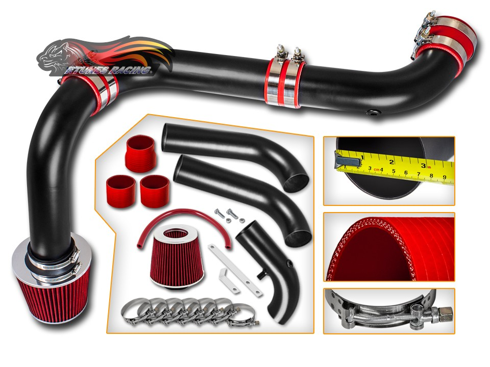 BCP RED 02-08 Dodge Ram 1500//2500//3500 4.7L//5.7L V8 Air Intake Kit Filter