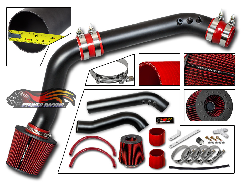BCP BLACK 99-00 Civic HX EX Si 1.6L Cold Air Intake Racing System Filter