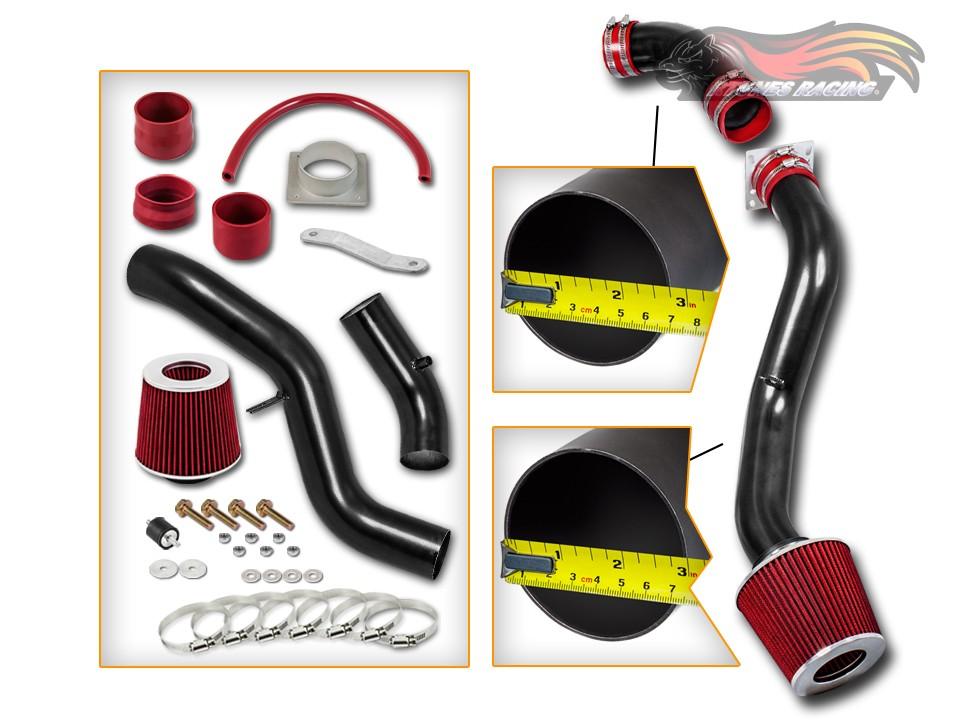 RED COLD AIR INTAKE INDUCTION KIT FOR 03 04 05 06 NISSAN 350Z Z33 3.5 3.5L V6