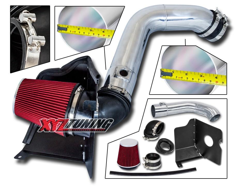 BLUE Heat Shield Cold Air Intake Filter For 04-05 Silverado 6.6L Turbo Diesel