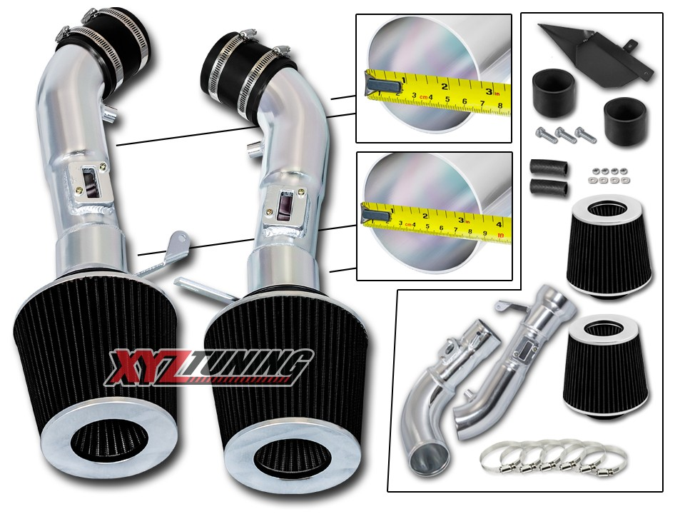 Inifniti 2008-2013 G37 3.7L V6 High Performance Parts Heat Shield Cold Air Intake Kit /& Red Filter Combo Compatible for Nissan 2009-2017 370Z