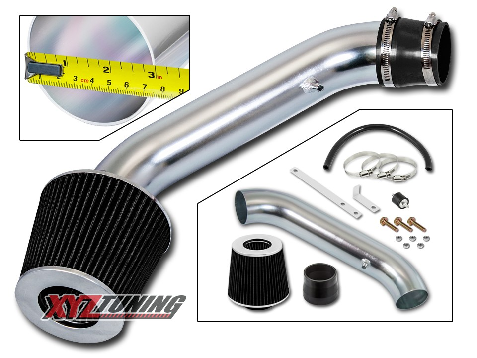 "2.75/"" JDM BLACK Cold Air Intake Racing System Filter For 94-01 Integra GSR 1.8L"
