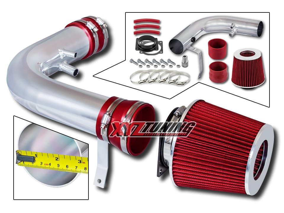 "For 1997-2003 Ford F-150 F150 3.5/"" Black Short Ram Air Intake Kit 4.6L 5.4L V8"