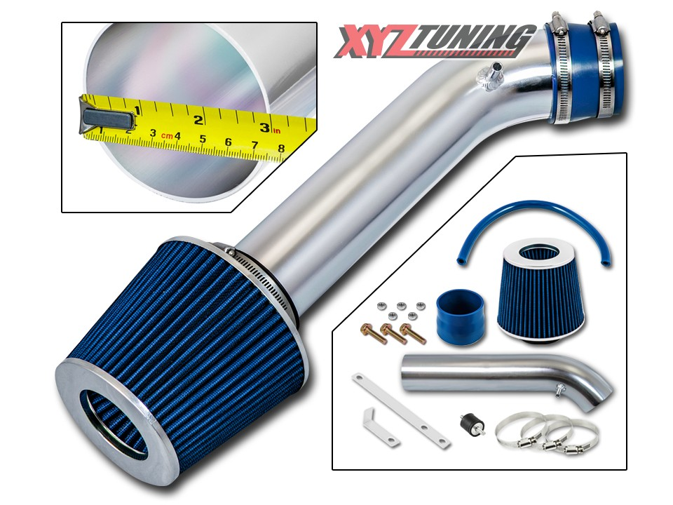 High Performance Parts Short Ram Air Intake Kit /& Red Filter Combo Compatible for 92-95 Honda Civic CX//DX//LX//EX//Si 93-97 Del Sol S//Si//VTEC 1.5L//1.6L Engine