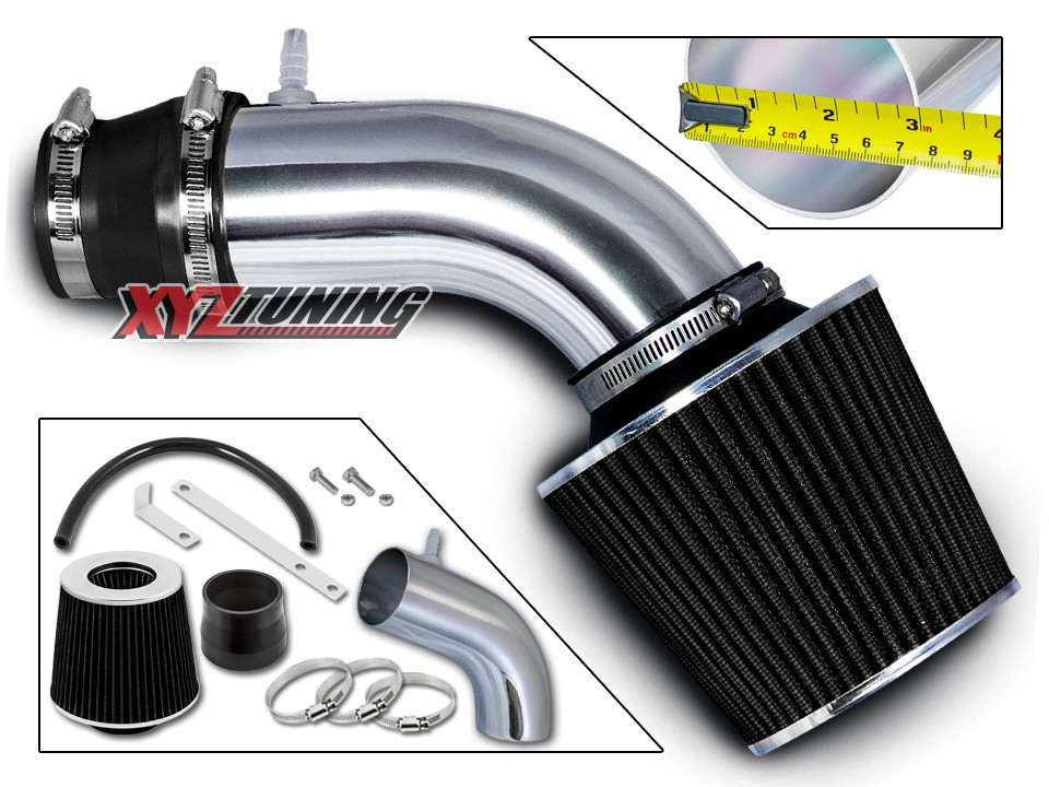 Cold Air Intake Kit BLACK Filter For 11-12 Veloster Accent 1.6L L4