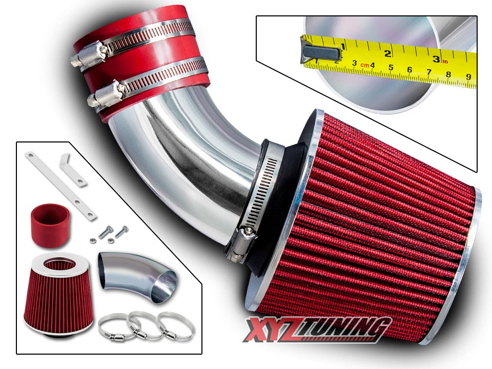Filter For 94-98 Galant 2.4L L4 RED Short Ram Air Intake Induction Kit