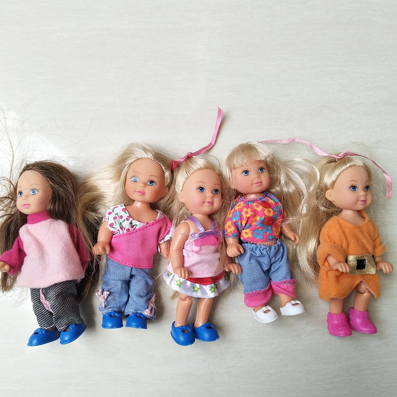 3X 3inch Dolls Toys Cute Kelly Dolls With Clothes Kids Gift Home Cake Decors  G3