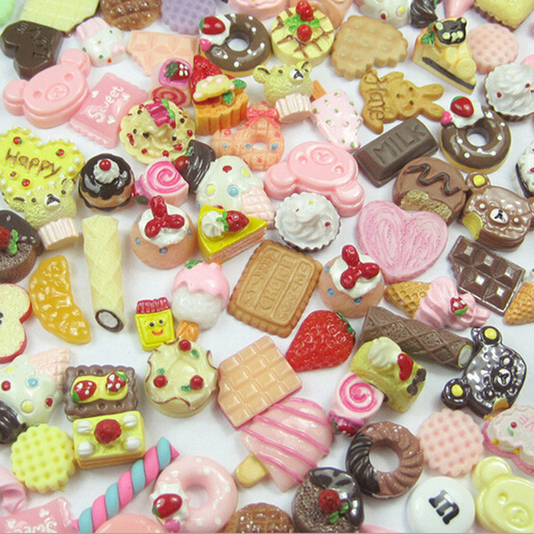 6x Dollhouse Miniature Food Set 1//12 Mini Food Cakes Biscuit For  Doll .US