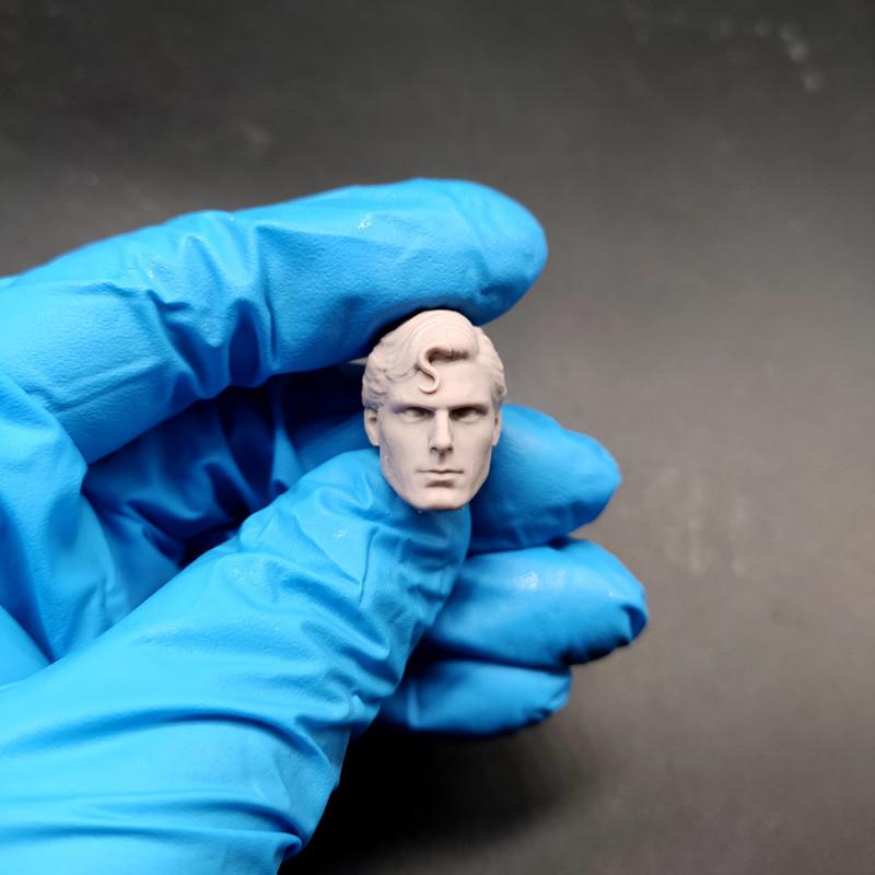"Blank 1//12 Scale Superman 2.0Henry Cavill Head Sculpt Unpainted Fit 6/"" ML Figure"