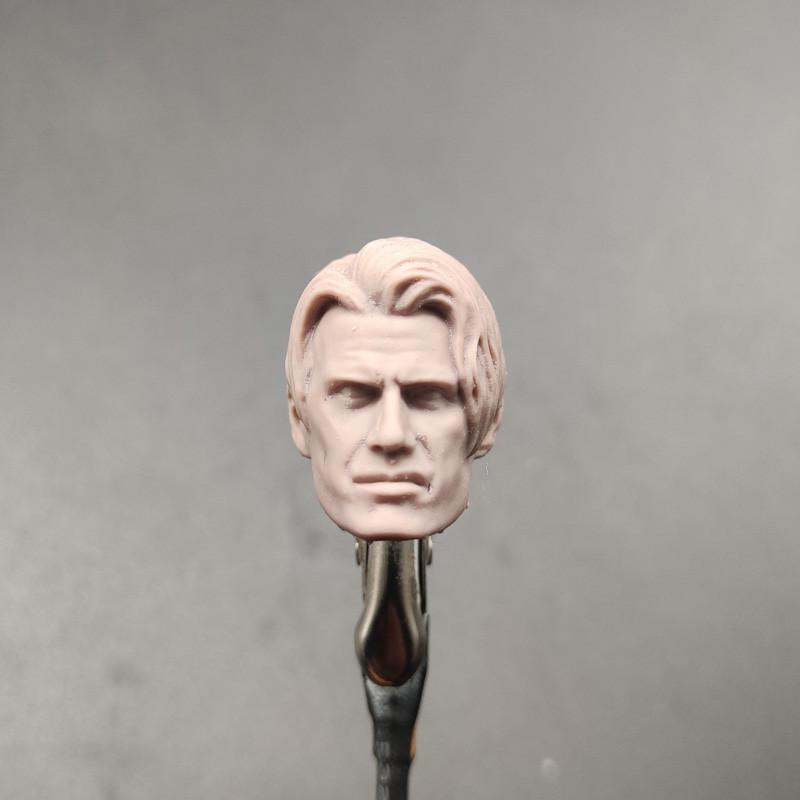 """1//6 A06 Male Bruce Willis Bald Head Sculpt PVC Model Fit 12/"""" Action Figure"""