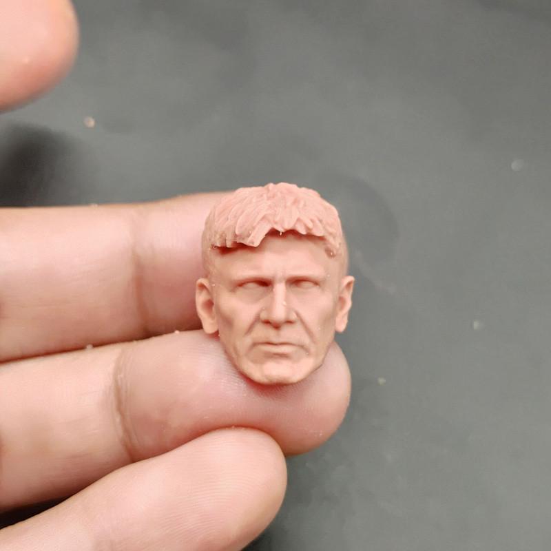 "Blank 1//6 Scale Blade Runner Harrison Ford Head Sculpt Unpainted Fit 12/"" Figure"