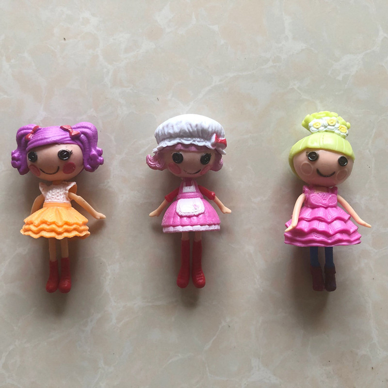 Figure Kids Baby Gift Toys 4pcs Mini Lalaloopsy Character Dolls Playset 3in