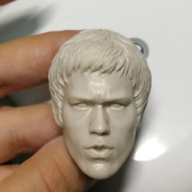 Blank Hot 1//6 Scale Fury Of The Dragon Bruce Lee Head Sculpt Unpainted